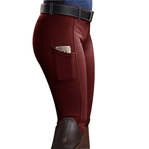 KEEPWO Collant d'équitation Femme, Pantalon d'équitation Extensible Doux Jodhpurs pour Femme