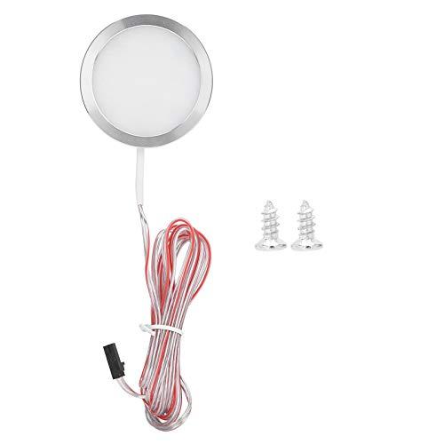 Mini luz de gabinete redonda Sensor de movimiento súper brillante operado Lámpara de noche Sensor de puerta para armario Armario Armario