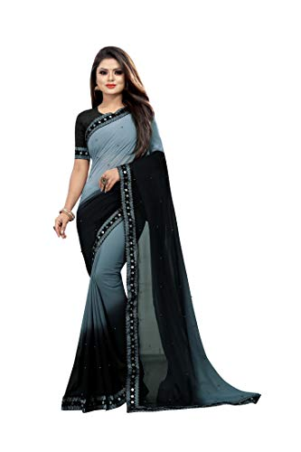 Fashion Day Moti Work Ombre Pattern Georgette Saree for Women