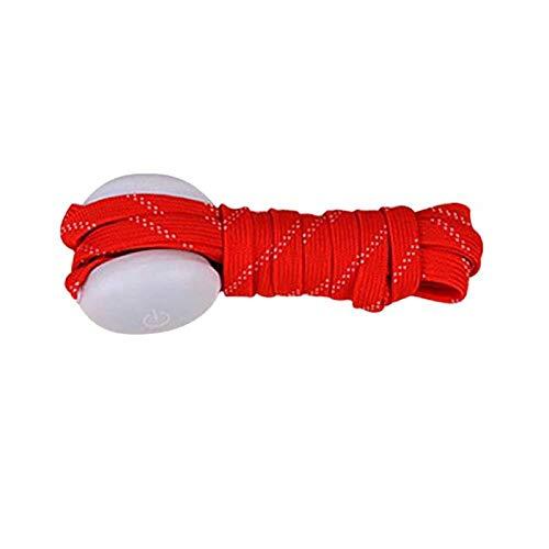 DDD1234 LED Light Up Schnürsenkel, High Visibility Soft Nylon Light Up Schnürsenkel mit 3 blinkenden Modi (rot)
