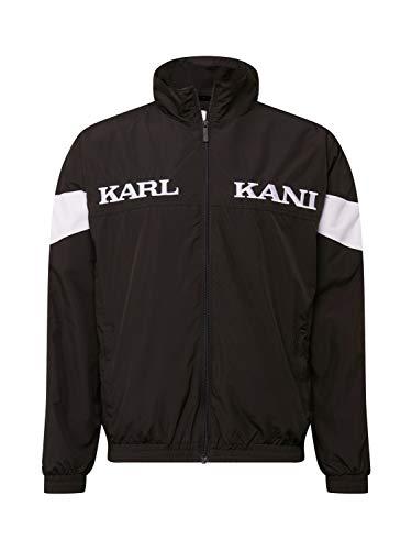 Karl Kani Chaqueta de entretiempo para hombre Retro Tape, 6086924, negro, extra-small