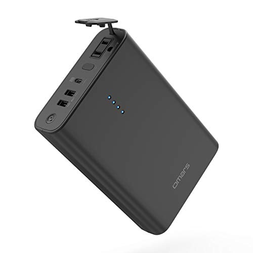 Portable Laptop Charger Omars 90W AC Outlet Laptop Power Bank 24000mAh 88.8Wh External Battery Pack for MacBook Pro Pad Pro iPhone HP Samsung Comping Power Supply Emergency (Charger Not Included)