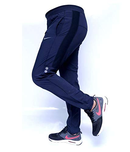 Men's Slim Fit Trackpants (sai-002_Black_X-Large)