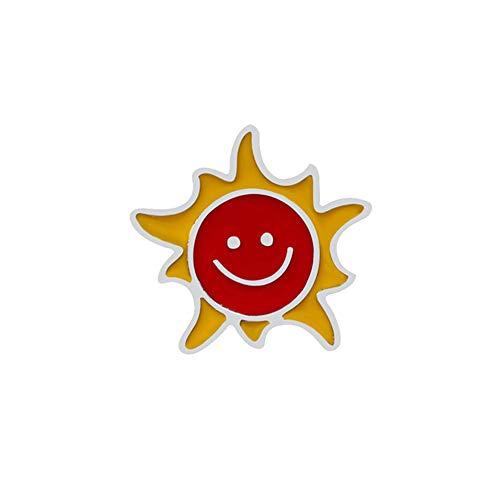 XJJJ Broche Redondo Anime Broche Icono Tierra Planeta Sol Pin Mochila Sombrero Solapa Pin Ropa Broche InsigniaSol