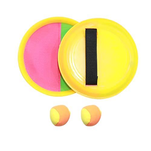 LIOOBO 1 Satz Klettballspiel Fangballspiel Ballspiel Fangspiel Set 2 Paddles und 2 Ball Fang den Ball Kinder Wurfspiel für Kindergeburtstag Mitbringsel Spielzeug