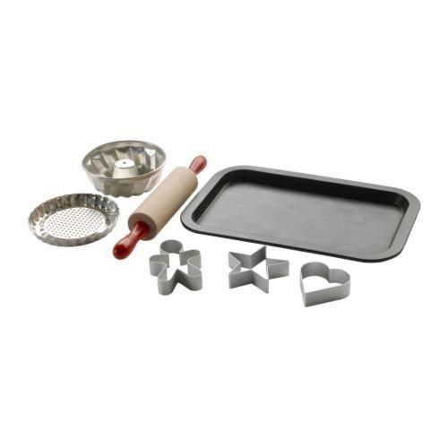 Ikea IKE-201.301.66 Kinder-Back-Set Duktig Kochgeschirr 7-teilig-MIT ECHTER FUNKTION-lebensmittelecht