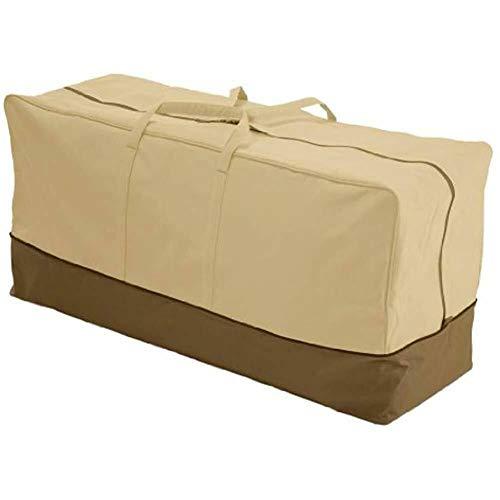 Cojín bolsa de almacenamiento para muebles de jardín al aire libre bolsa organizador grande bolsa impermeable asiento acolchado al aire libre bolsa de transporte con asa ligera bolsa de alto rendimiento material 600D