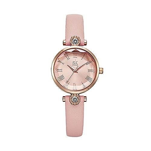 KLFJFD Reloj de Cuarzo Resistente al Agua con Diamantes de imitación de Lujo Ligero y Temperamento a la Moda para Mujer, Reloj de Moda para Regalo de Ocio con Personalidad Creativa para Estudiantes
