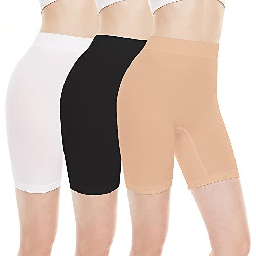 BATHRINS Mujeres Bragas Leggings Short de Seguridad Shorts Anti Rozaduras Calzoncillos de Pierna Polainas Elásticos Boxers Invisibles Bragas