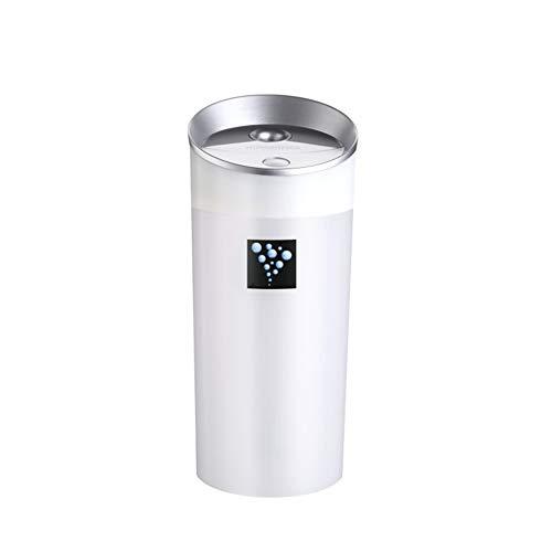 DSNFJD Mini Humidificador Temporizador Silencio Iones Negativos USB Coche Humidificador Adecuado para Habitaciones Familiares, Oficinas, Viajes Al Aire Libre, Etc,White