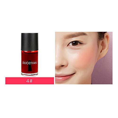Angmile Blush liquide hydratant imperméable Éclaircir la couleur de la peau Blush facial/Brillant à lèvres Maquillage multifonctionnel Cosmétique