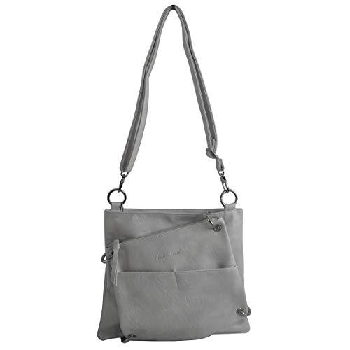 2 in 1Handtasche von Jennifer Jones - Umhängetasche, Damen-Tasche, Shopper, Schultertasche, Abend-Tasche - (Weiss) - präsentiert von ZMOKA®