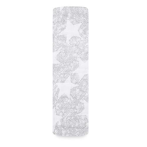 aden + anais - Maxi-lange grand format prélavé en mousseline 100% coton - Imprimé Sleepy Stars - 120 cm x 120 cm