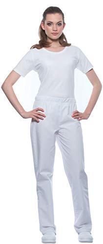 Berufshose Unisex OP-Bekleidung Schwesternhose Pflegerhose OP-Hose Pflegerinnen, Farbe:weiß, Größe:Damen 38/40