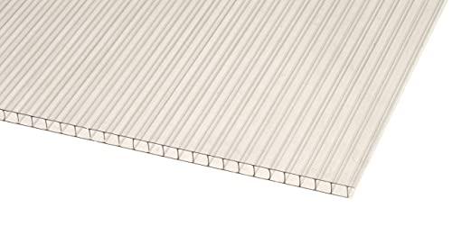 IRONLUX Policarbonato Placa | Panel Policarbonato Celular Transparente Compacto, 6 mm, 1195 x 595 mm
