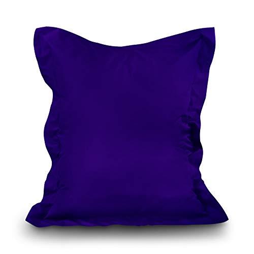 alibey Sitzsack Sitzkissen Kinder Indoor Outdoor Sessel Rechteckig Bean Bag (XXL = 160 x 120, Lila)