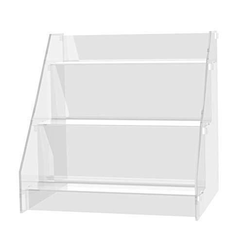 Danieli Espositore in Acrilico SCL001 | Alzatina Trasparente in Plexiglass a Gradini | Espositore da Banco in Plexiglass cm 30,5 x 24 x 30 | Gradini 30 x 7 cm |