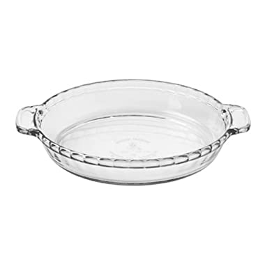 Anchor Hocking Oven Basics 9.5-Inch Deep Pie Plate, Clear, 1 Piece