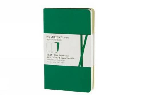 Moleskine Volant Notebook (Set of 2), Pocket, Plain, Emerald Green, Oxide Green, Soft Cover (3.5 x 5.5)