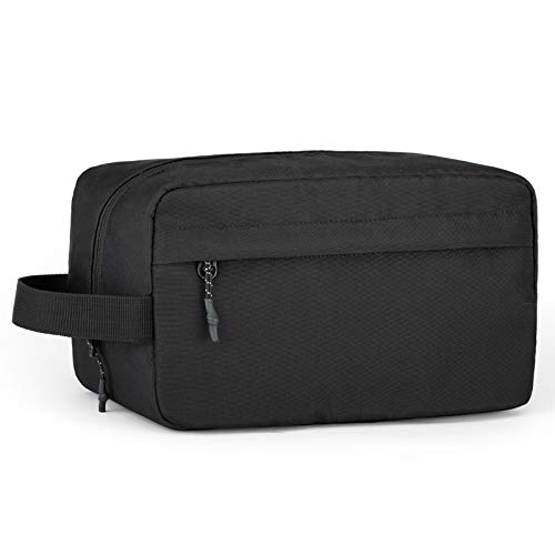 Vorspack Toiletry Bag Hanging Dopp Kit for Men Water Resistant Shaving Bag with Large Capacity for Travel - Black