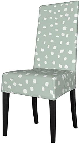 White On Sage Dots - Funda de protección para silla de comedor, extraíble, lavable, antipolvo, fundas para sillas de comedor, para el hogar, cocina, oficina, restaurante