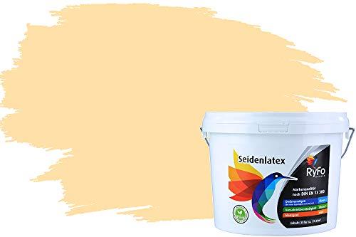 RyFo Colors Seidenlatex Trend Orangetöne Marshmallow 3l - bunte Innenfarbe, weitere Orange Farbtöne und Größen erhältlich, Deckkraft Klasse 1