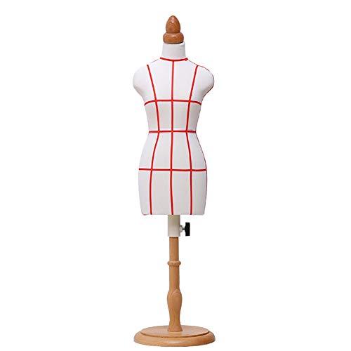 Hyl Maniqui Costura Mini modistas maniquí Famale, Sastre maniquíes de la muñeca la Forma del Vestido de Pantalla Dollhouse Accesorios Decoración, Altura Ajustable