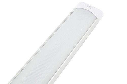 PLAFONIERA LED 20W WATT LUCE FREDDA 60CM SLIM SOFFITTO 220V LAMPADA SILVER