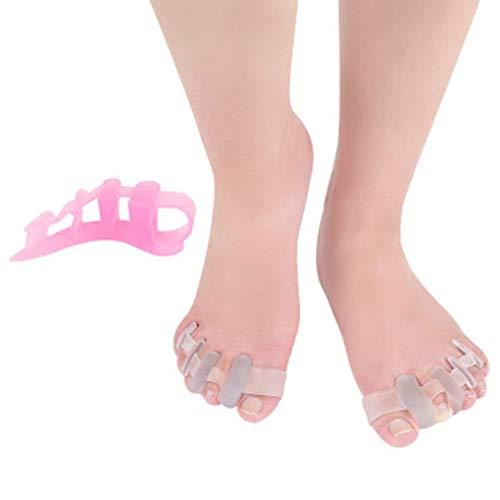 LKK-KK Dedo del pie Dedo del pie camillas Separador de Hallux valgus juanete del Dedo del pie los Hombres y Las Mujeres Alivio rápido fácil corrección de la Postura Desgaste (Color : White)