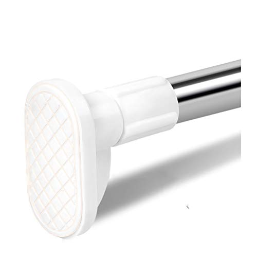Telescopic Shower Curtain Rod, Clothes Rail Closet Rod Made of Stainless Steel Curtain Rod, No Need to Drill (Color : 27mm Pipe Diameter, Size : 110-200cm)