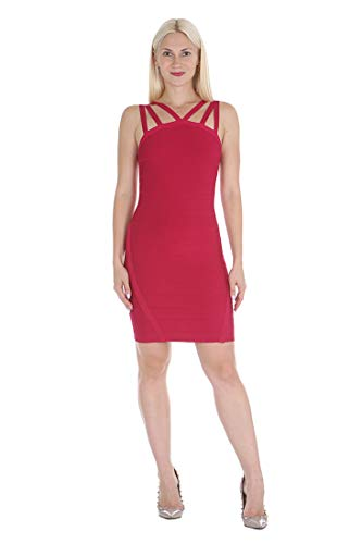 bebe Damen 70438  Kleid -  rot -  X-Klein