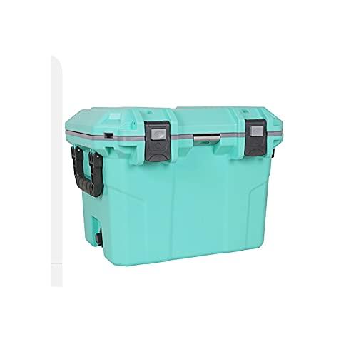 DAGCOT El Cofre de Hielo Aislado de Servicio Pesado refrigerador Mantiene un portátil Duradero de Hielo para Viajar para Acampar y Actividades al Aire Libre 30L / 27.2 Cuarto de galón (Color : Green)
