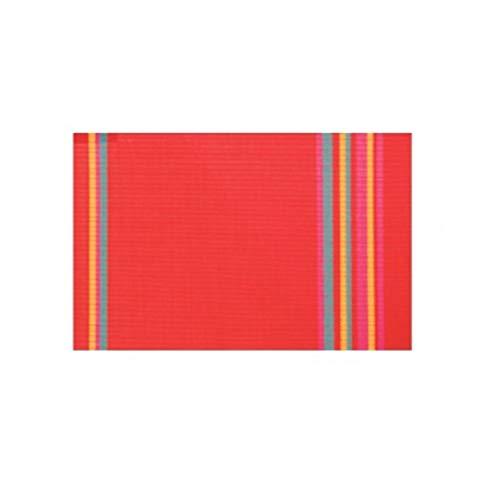Visiodirect Lot de 12 Sets de Table Bayadère Rouge - 45 x 30 cm