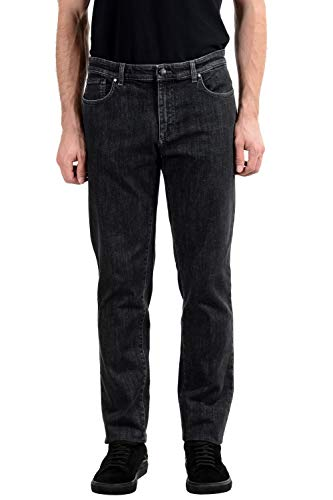 Versace Colección de los hombres gris oscuro Stretch Classic Jeans Sz US 36 IT 52