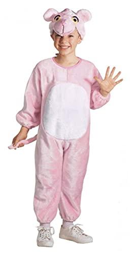 Costume panthère en peluche rose pour enfant 110