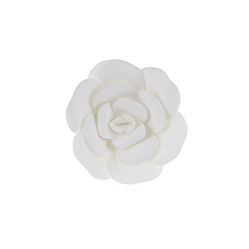 Mega Crafts 8 Inch Handmade Paper Flower in White, Home Décor, Wedding Bouquets & Receptions, Event Flower Planning, Table Centerpieces, Picture & Backdrop Wall Decoration, Garlands & Parties