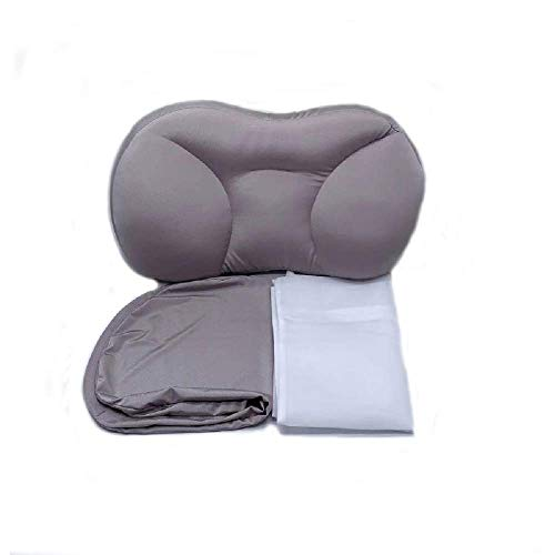MFLB All-Round Sleep Pillow(with Pillowcase),Deep Sleep Neck Support Pillow,Cervical Massage Pillow for Neck Pain - for Side Sleepers,Back and Stomach Sleepers (Gray)
