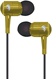 Spider USA SPEB111-YL Sapphire Series Metal Earbuds, Yellow