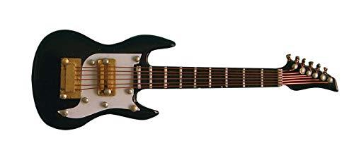 Dolls House Guitare électrique Noire Miniature Maison de poupée 1 : 12, Style Accessoires, dans Un étui Noir, Miniature