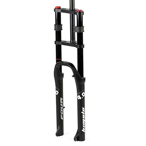 LLGHT Horquilla Delantera De Bicicleta Horquilla De Suspensión BMX E-Bike Horquilla De Bicicleta De 26x4,0 Pulgadas Freno De Disco De Aire MTB/ATV QR De 160 Mm De Recorrido (Color : Black)