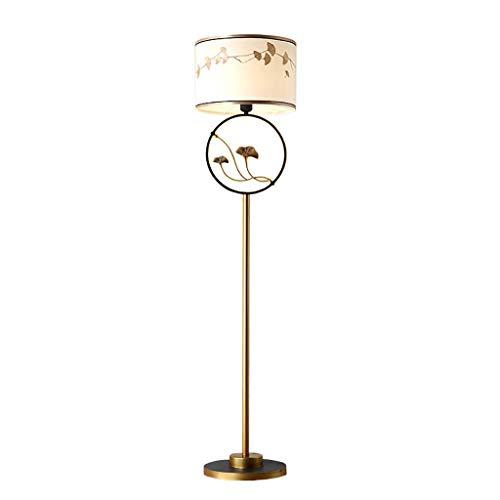 CLJ-LJ Hogar, La novedad del piso de la luz de la lámpara de pie de estilo oriental de hierro forjado decorativo de la lámpara de pie de arriba