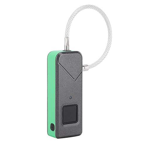 Candado de reconocimiento automático para huellas dactilares, seguro, resistente al agua, bloqueo de seguridad sin llave con bajo consumo de energía, para el hogar