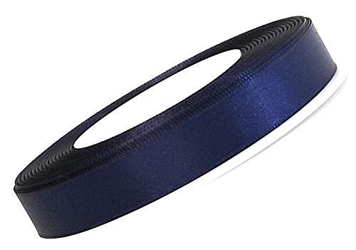 Konrad Arnold Satinband 25m x 10mm blau Nachtblau Dekoband Geschenkband Schleifenband