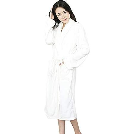 バスローブ レディース 女性 ガウン もふもふ 肌触り 洗濯機で洗えるバスローブ (レディース, ホワイト)