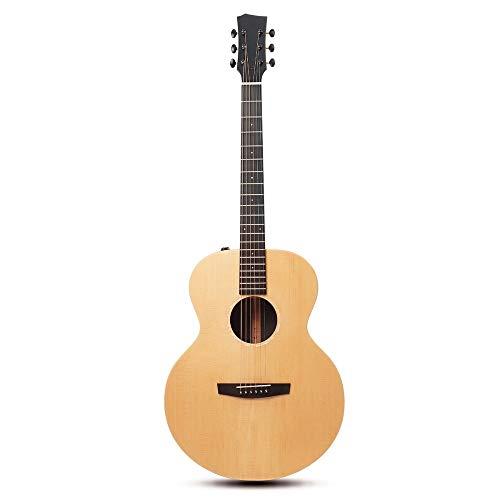 LOIKHGV Gitarre- 41 Zoll AJ Gitarre Fichtenholz Akustische Folk Gitarre Mit Tasche Zubehör, BEQ, 41 Zoll