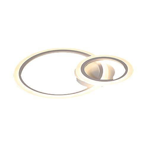 Lámpara de techo LED regulable con anillo y cambio de color, con mando a distancia, redonda, para salón, dormitorio, cocina, comedor, iluminación, Blanco 54.00W 220.00V