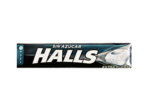 Halls - Caramelos Extra Fuerte, sin Azúcar - 20 unidades