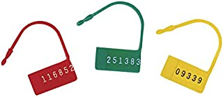 Omnimed 484107-R Safety Control Seals with Numbered, 100 Per Pack, Red