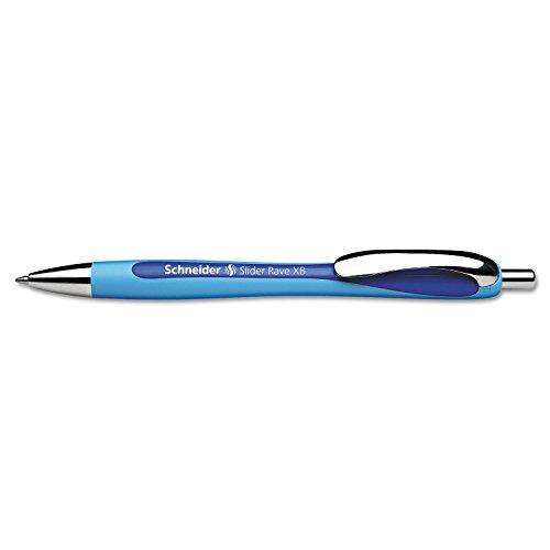 Stride Schneider Rave XB Retractable Ballpoint Pen, 1.4mm, Blue Ink (132503)