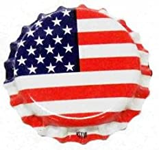 American Flag Oxygen Barrier Crown Caps 144 Count